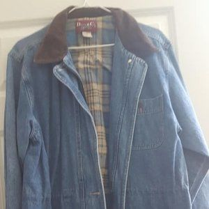 Denim Plaid Jacket Denim & CO small